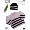striped Sweater and Beanie