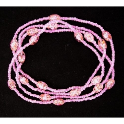 Necklace Swirl Beads Pink