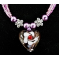 Necklace Flower Heart